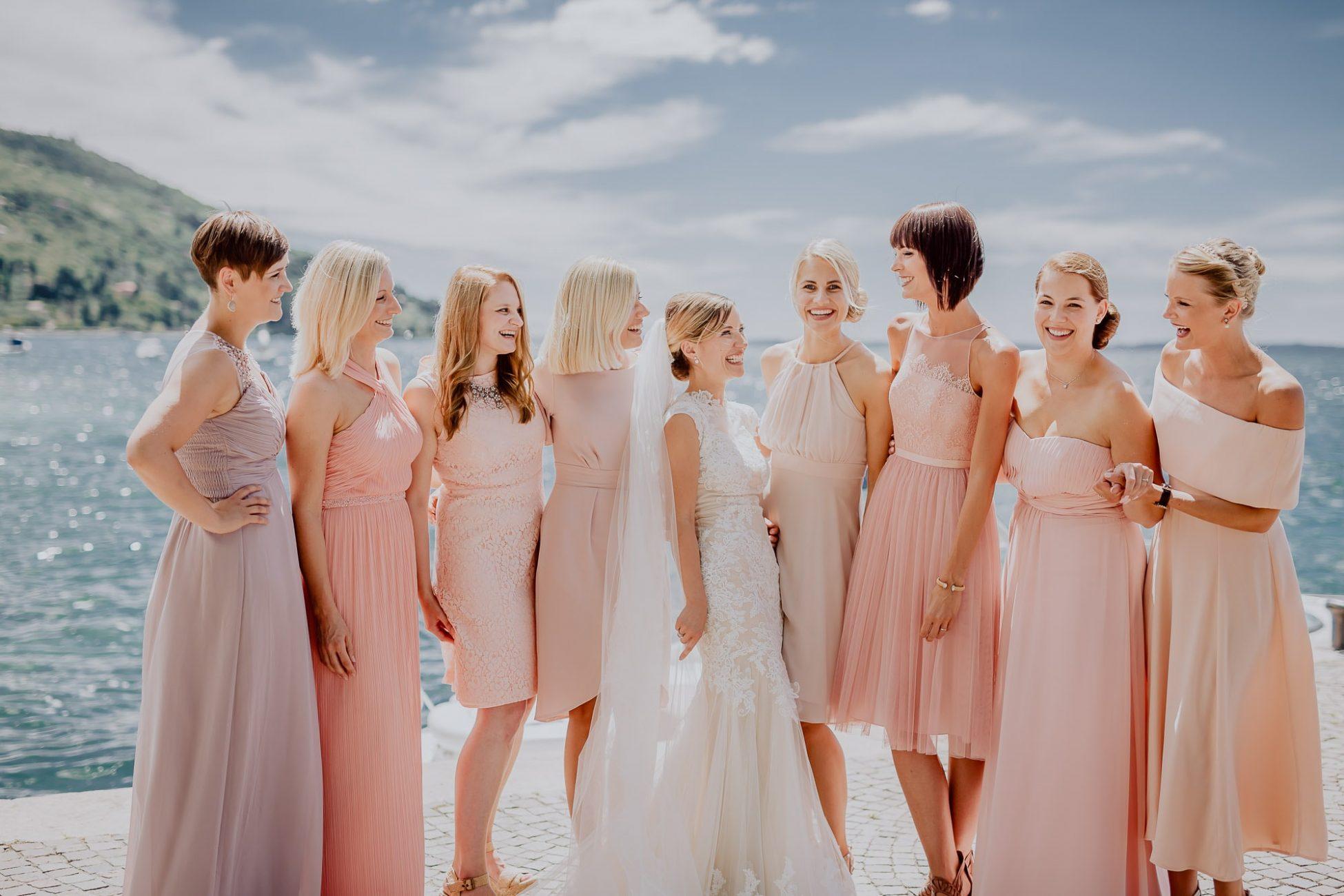 Hochzeitsfotograf Destinationwedding auslandshochzeit Ben Gierig Brautjungfern Bridemaids Italien Gardasee