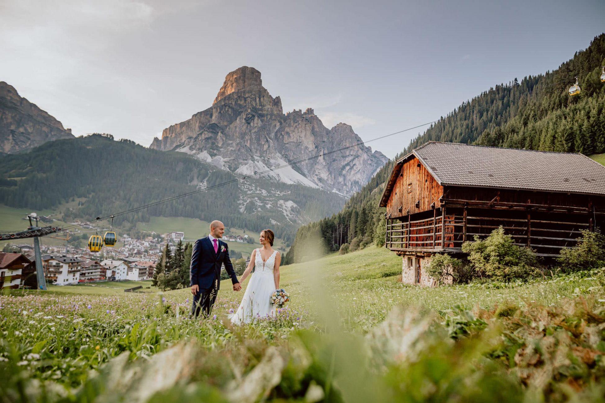 Hochzeitsfotograf Südtirol Corvara Berge Alm