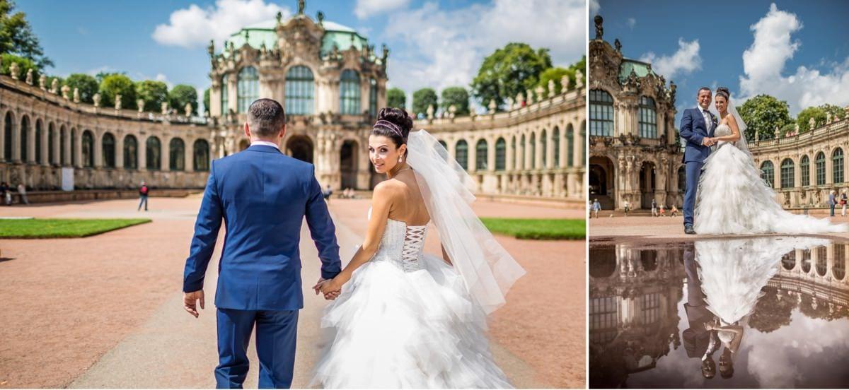 Hochzeitsfotograf Dresden Frauenkirche Heiraten Hochzeitsfotos Reportage Trauung Zwinger