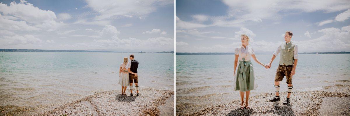 Hochzeitsfotograf Hochzeitsfotos Roseninsel Starnberger See Bayern Tracht