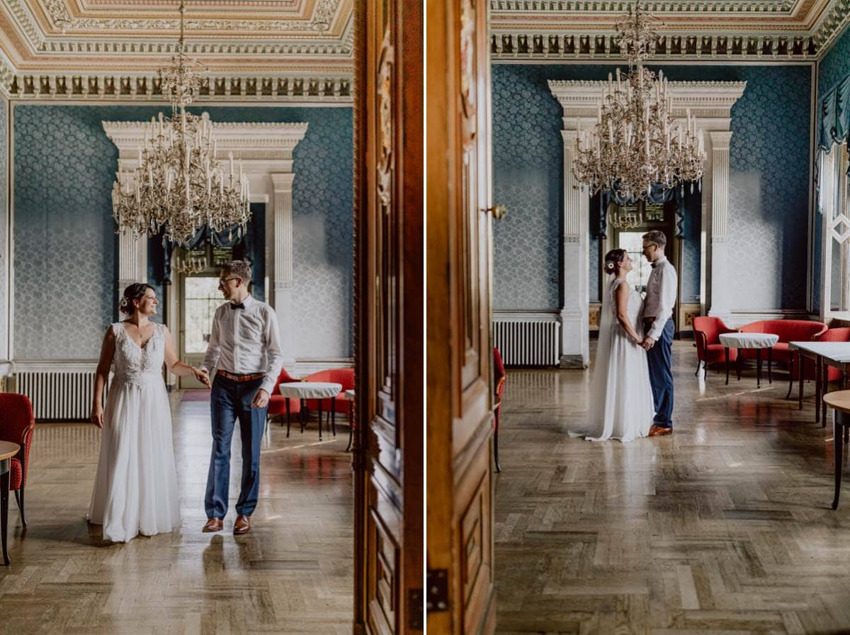 Heiraten Schloss Albrechtsberg Dresden Paarshooting