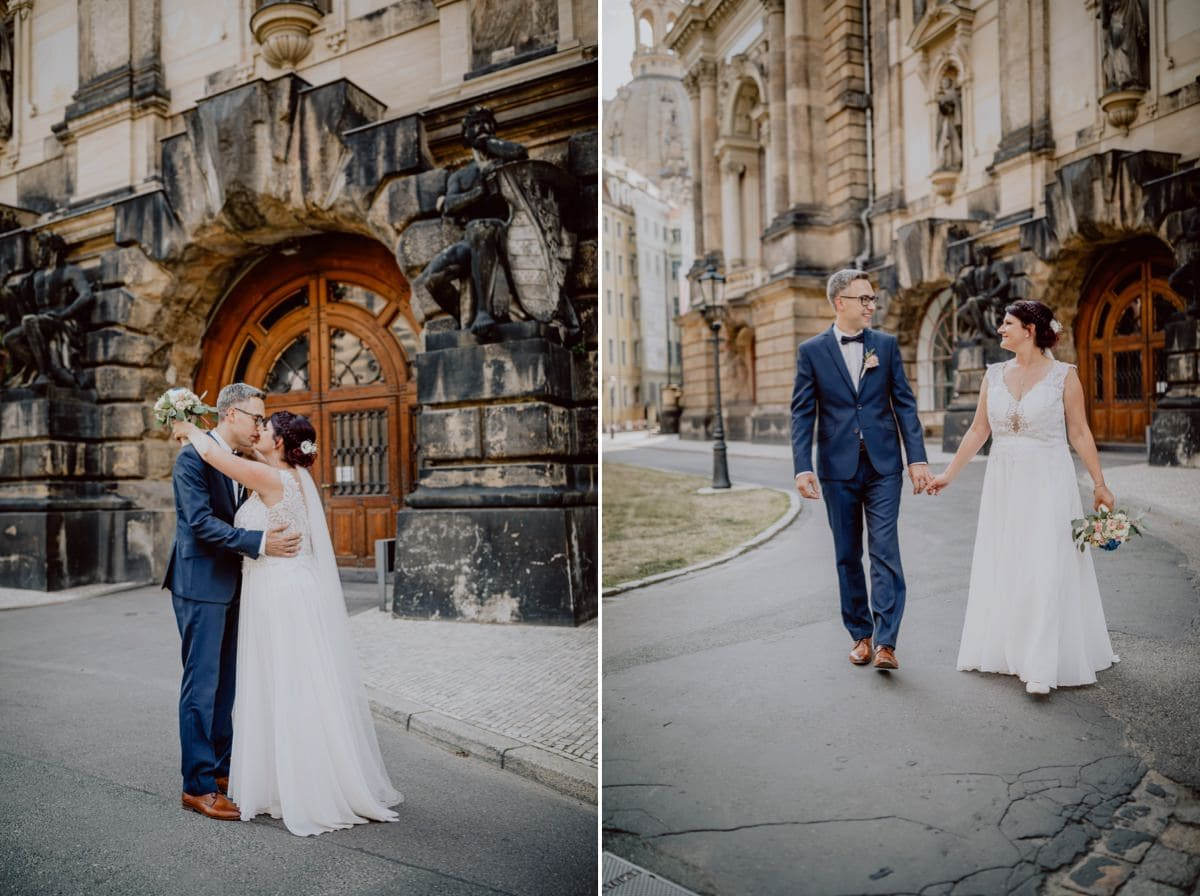Hochzeitsfotograf Dresden Altstadt Brühlsche Terrasse Frauenkirche Albertinum