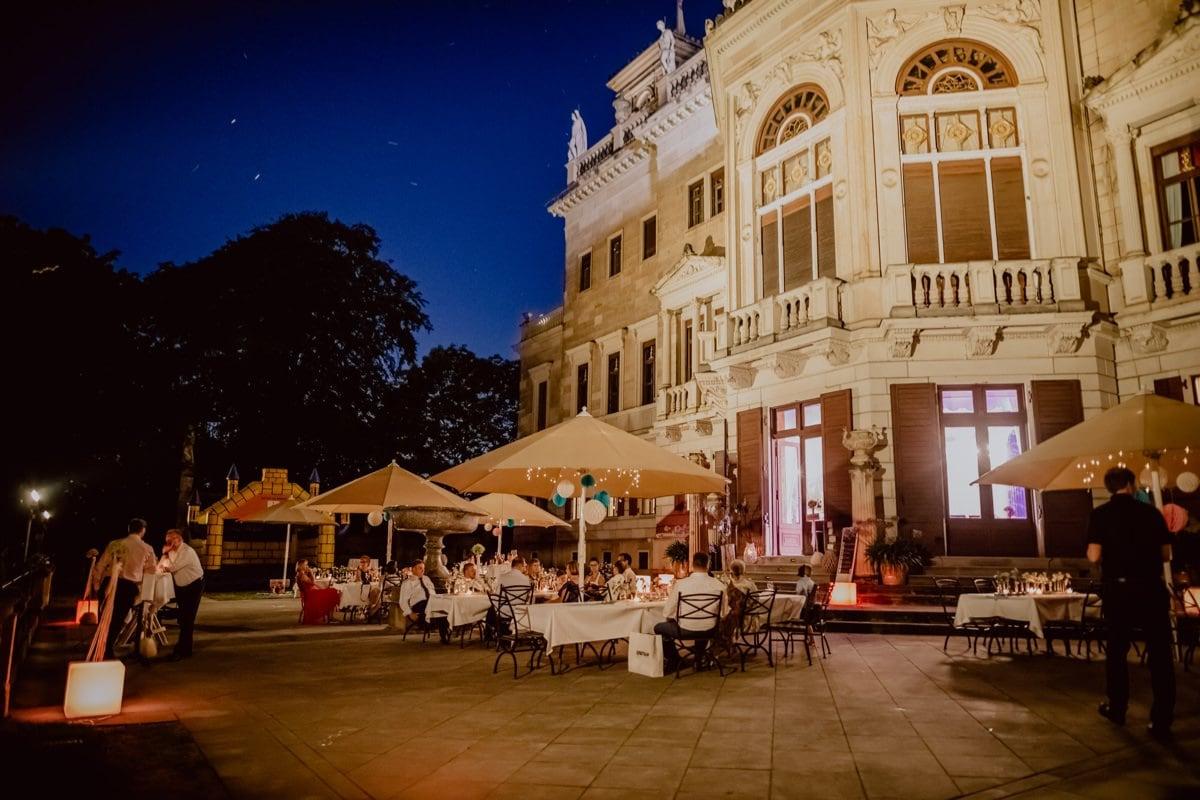 Hochzeitsfotograf Dresden Schloss Albrechtsberg Ambiente bei Nacht