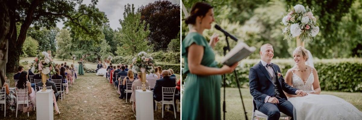 Hochzeitskuss Hochzeitsfotograf Dresden Schloss Proschwitz Hochzeitsbogen Blumen Freie Trauung Tina Knopp