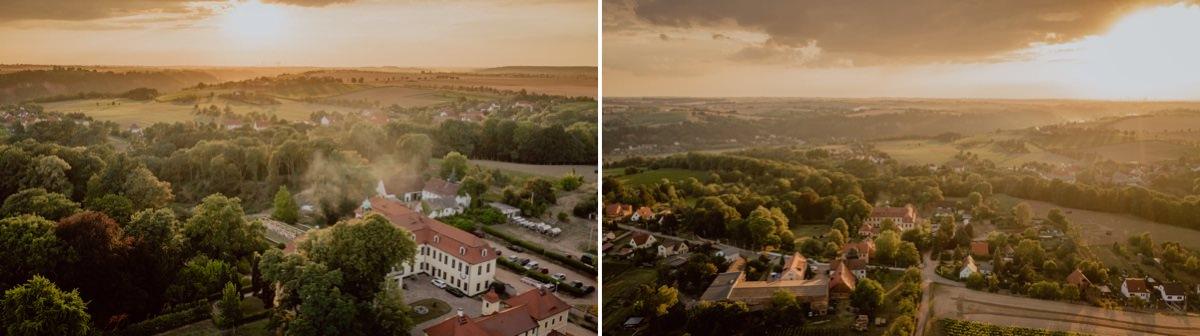 Hochzeitsfotos Drohne Meißen Schloss Proschwitz