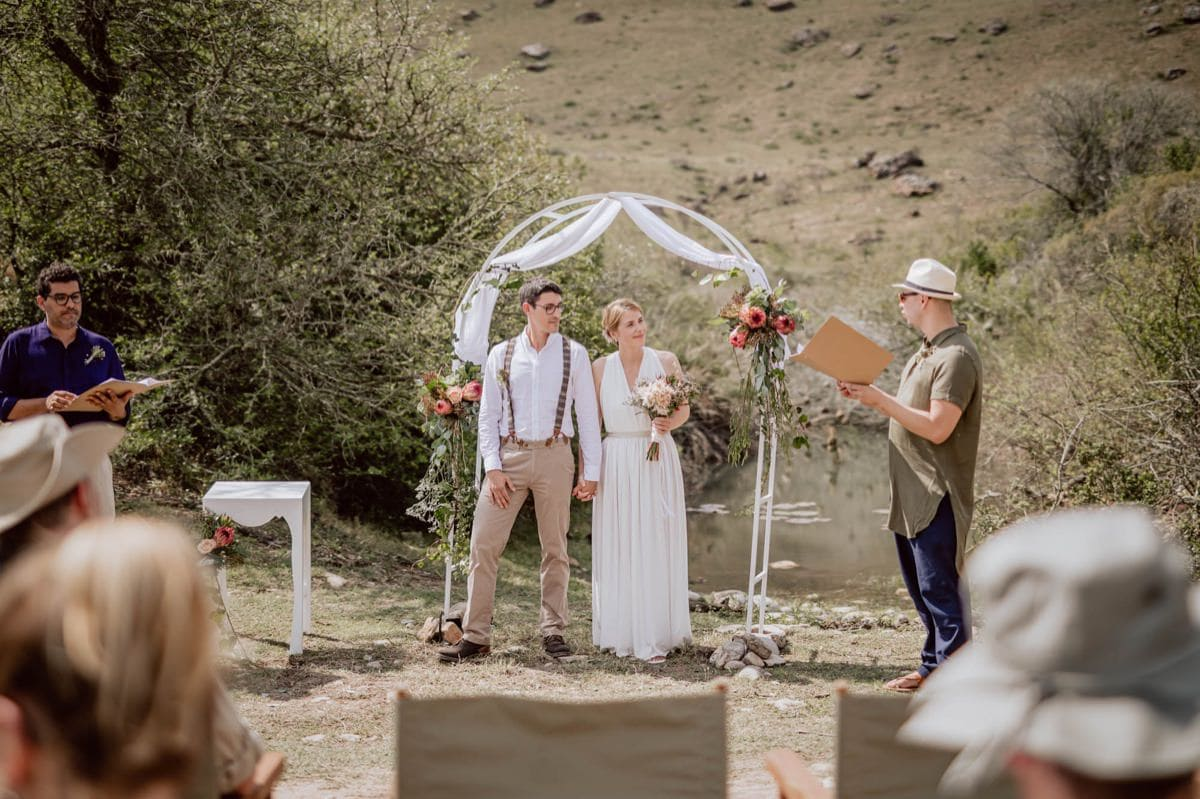 Wedding during Safari Gondwana Game Reserve South Africa
