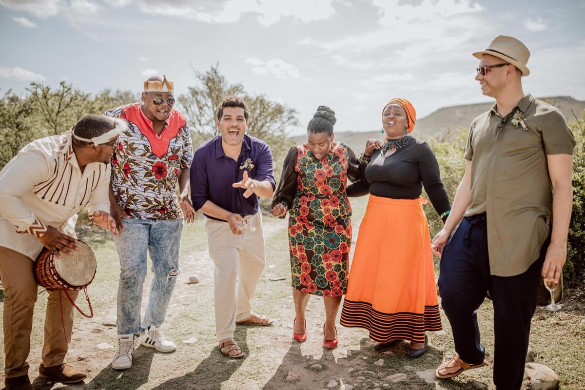 Chor Musik lokal Südafrika Township