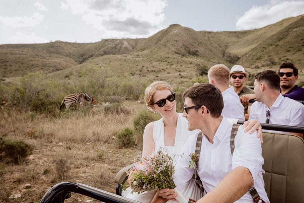 Safari Hochzeit Tiere Game Drive