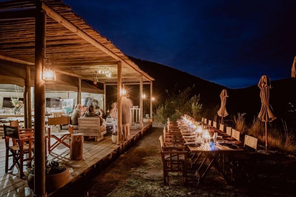 Dekoration Dinner Hochzeit Hochzeitsfotograf Safarihochzeit Südafrika