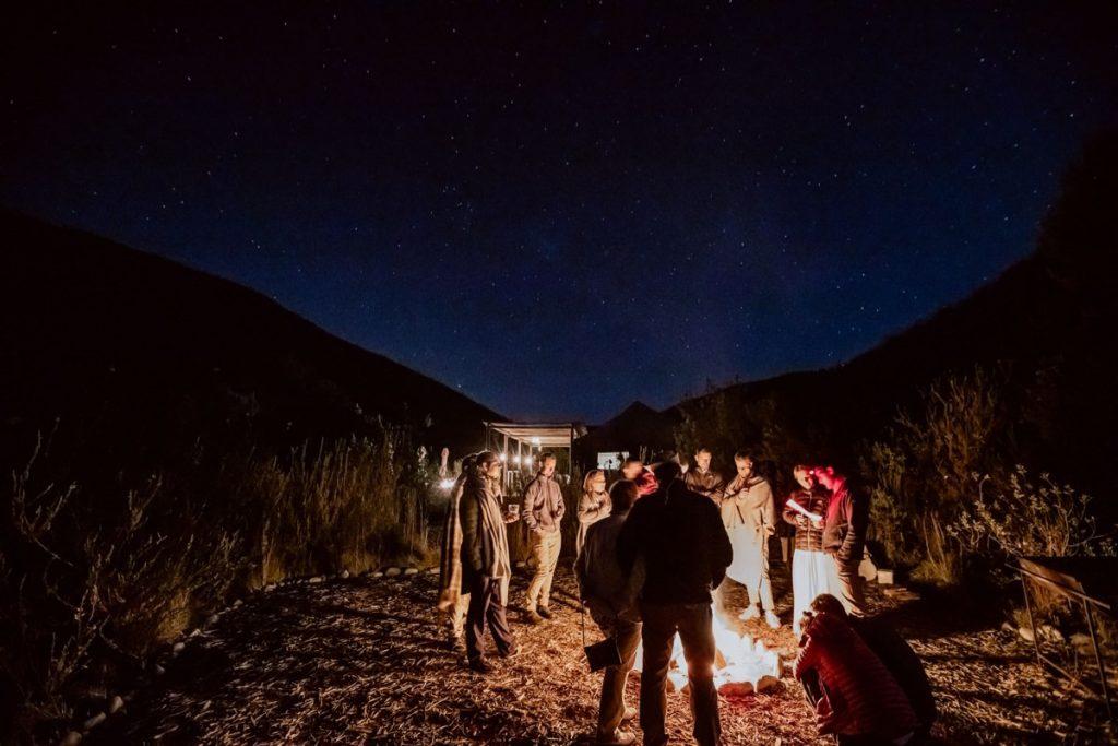 Lagerfeuer Bonfire Safari Ecocamp Südafrika Wildnis Hochzeit