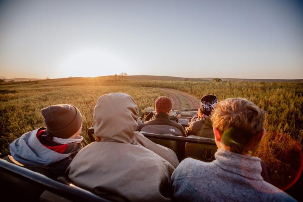 Game Drive Sunset Sonnenuntergang Gondwana Südafrika