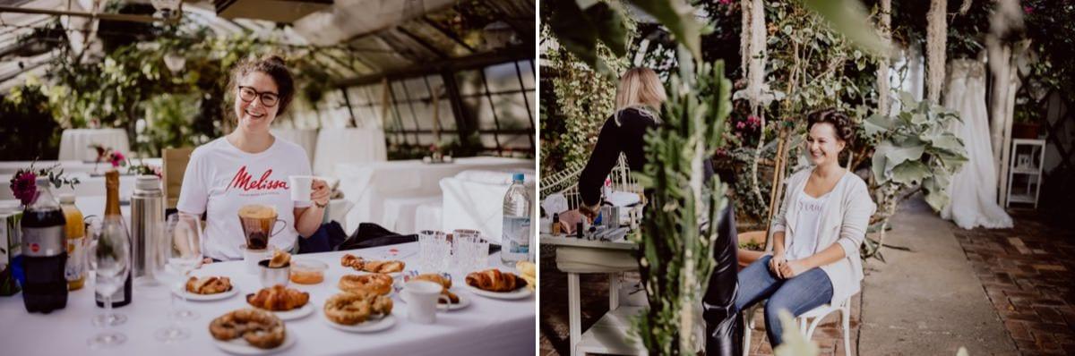 Braut Vorbereitungen Hochzeit München