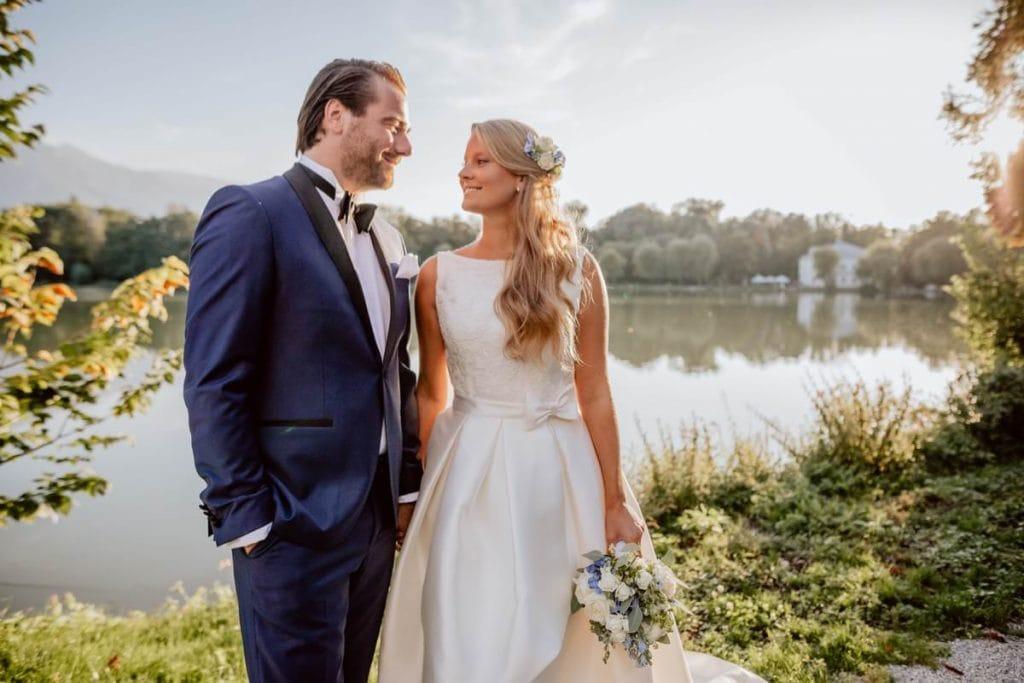 Hochzeitsfotograf Hochzeitsbilder Schloss Leopoldskron Salzburg Hochzeit feiern