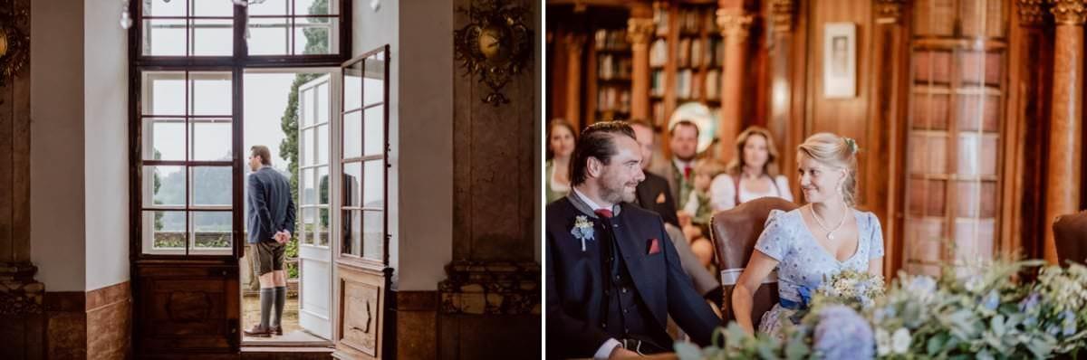 Hochzeitsfotograf Leopoldskron Salzburg Bibliothek
